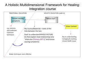 A Holistic Multidimensional Framework - integration course